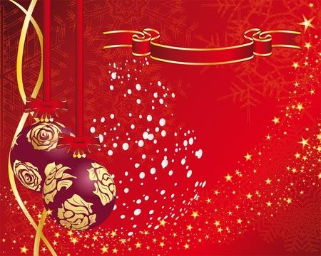 Kerstmis (Nieuwjaar) kaart voor het ontwerp te gebruiken. Vector Illustratie