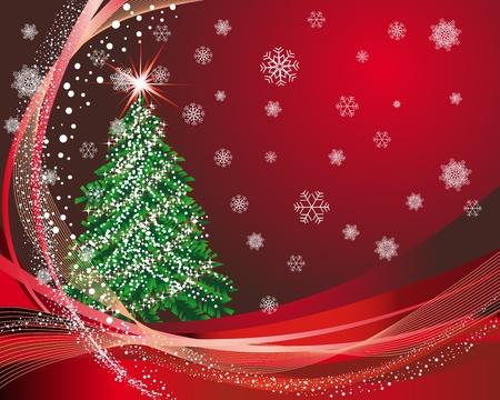 Kerstmis (Nieuwjaar) kaart voor het ontwerp te gebruiken.