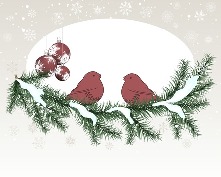 Christmas (New Year) card for design use. Vector