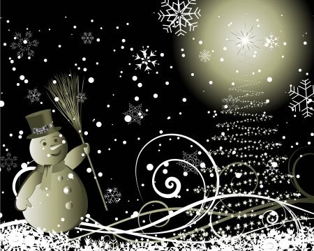 Noël (Nouvel An) de carte pour l'utilisation du design.