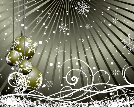 Christmas (New Year) card for design use. Stock Vector - 11072630