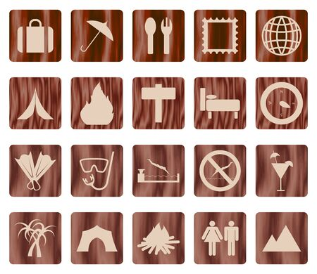 Travel set of different web icons Stock Vector - 11072637