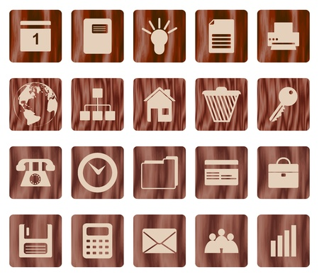 Business and office set of different web icons Vector