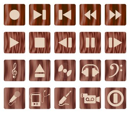 Collection of different music themes icons Vector