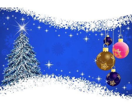 Beautiful Christmas (New Year) card for design use Vector