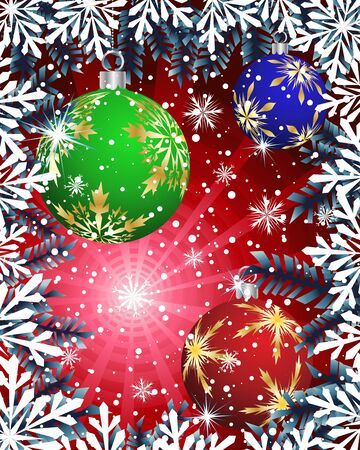 xmas decoration: Beautiful Christmas (New Year) card for design use