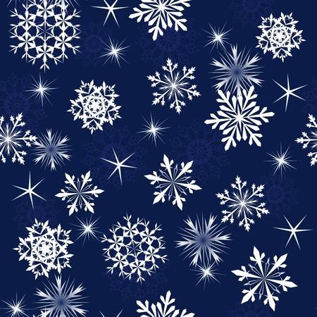 blizzard: Seamless snowflakes background for winter and christmas theme