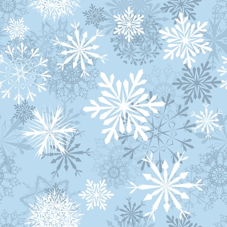 Seamless snowflakes background for winter and christmas theme Stock Vector - 11275608