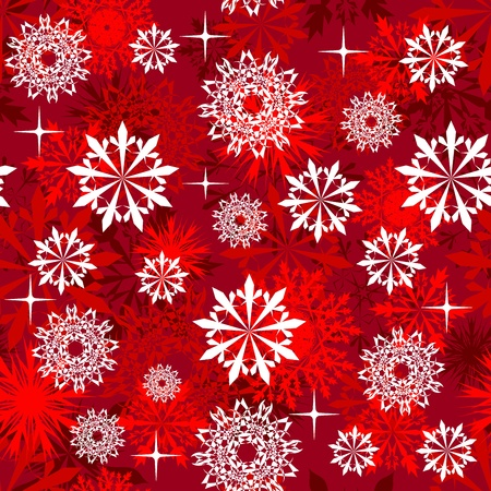 arts symbols: Seamless snowflakes background for winter and christmas theme