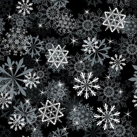 snow flakes: Seamless snowflakes background for winter and christmas theme
