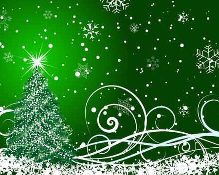 Beautiful Christmas (New Year) card  Illustration