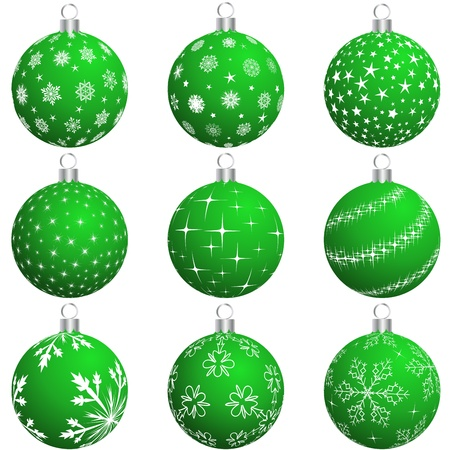 Set of Christmas (New Year) balls for design use Vector