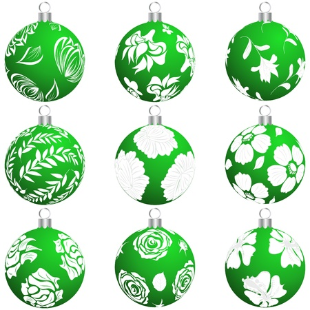 Set of Christmas (New Year) balls  Vector