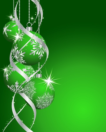 ball lights: Beautiful Christmas (New Year) card for design use