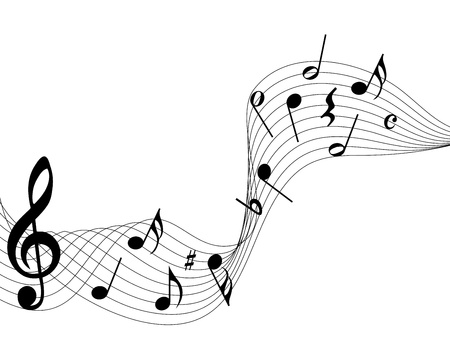 music staff: Vector musical notes staff background for design use Illustration