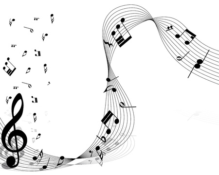 music symbols: Vector musical notes staff background for design use Illustration