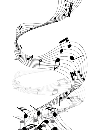 Vector musical notes staff background for design use Stock Vector - 12008279