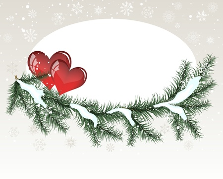 winter wedding: Abstract Valentine days background frame. Vector illustration. Illustration
