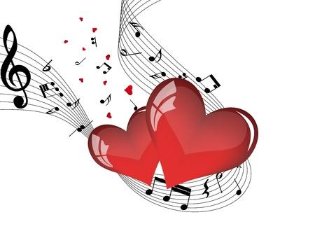 clef de fa: R�sum� Valentine jours trame de fond. Vector illustration.