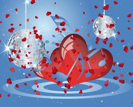 Abstract Valentine days background frame. Vector illustration. Illustration