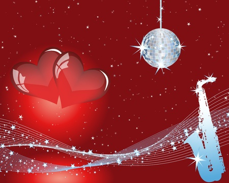 minims: Abstract Valentine days background frame. Vector illustration. Illustration