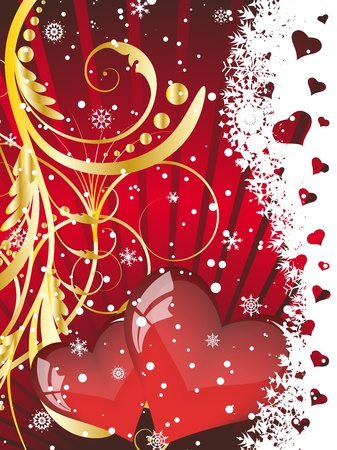 Abstract Valentine days background frame. Vector illustration. Vector