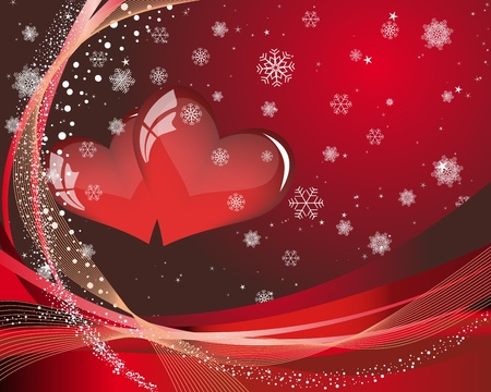 Abstract Valentine days background frame. Vector illustration. Stock Vector - 12284803