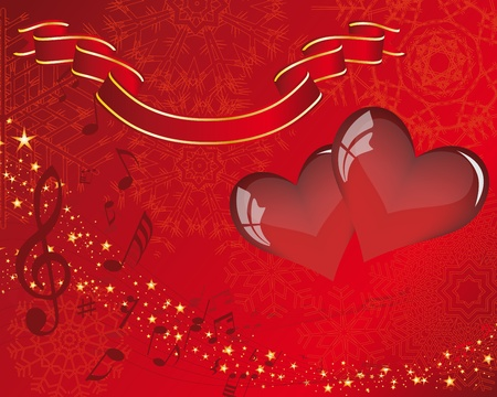 heart sounds: Abstract Valentine days background frame. Vector illustration. Illustration