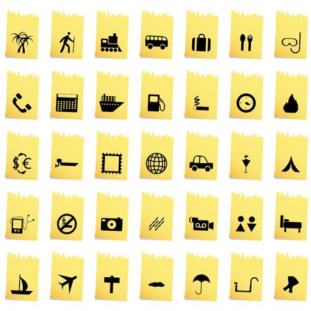 Travel set of different vector web icons Stock Vector - 13671644