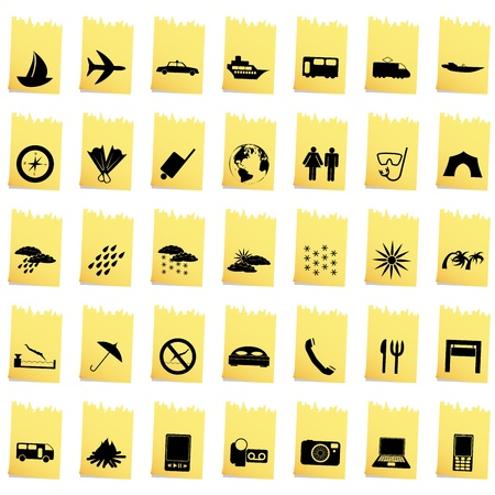 Transportation set of different vector web icons Stock Vector - 13671654