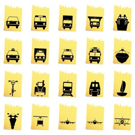 liner transportation: Transportation set of different vector web icons