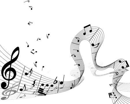 simbolos musicales: Notas musicales de fondo vector para el uso personal de dise�o