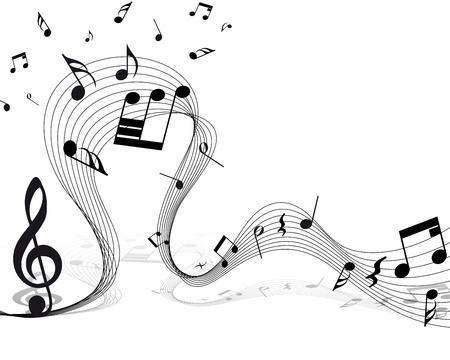 notes musicales: Vecteur fond musical personnel notes pour utiliser la conception