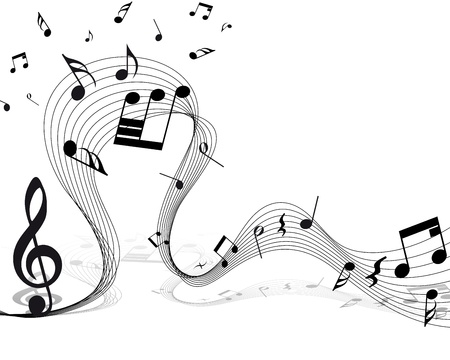 Vector musical notes staff background for design use Stock Vector - 13671636