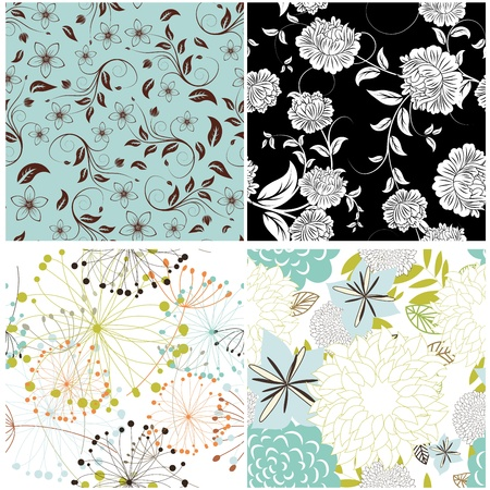Seamless vector floral pattern. For easy making seamless pattern just drag all group into swatches bar, and use it for filling any contours. Stock Vector - 13786599