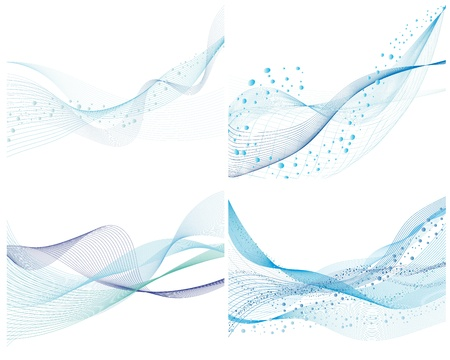 Abstract water vector background set with bubbles of air Illustration