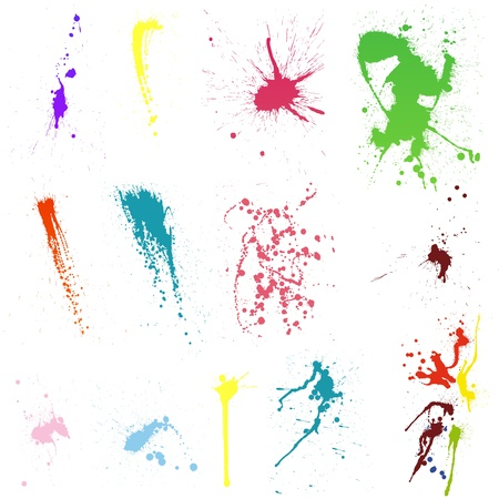 Abstract grunge blob set for design use.  Vector