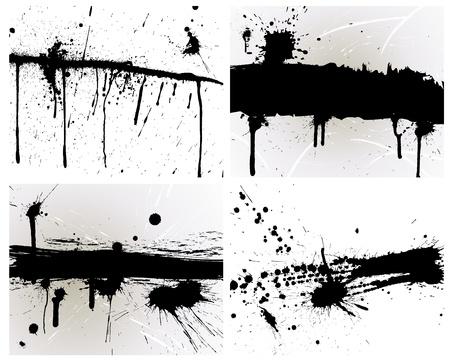Abstract grunge achtergrond in te stellen voor het ontwerp gebruik. Vector Illustratie