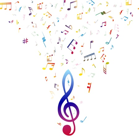 minim music note: musical notes staff background for design use