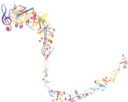 music note: musical notes staff background Illustration