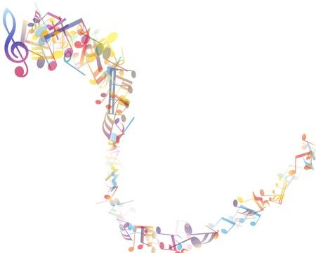 pentagrama musical: notas musicales personal de fondo
