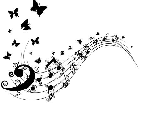 notas musicales: Notas musicales de fondo vector para el uso personal de dise�o