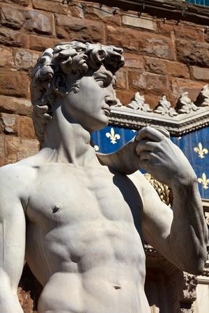 european culture: Statue of David in Flornce  Italy  Mediterranean Europe