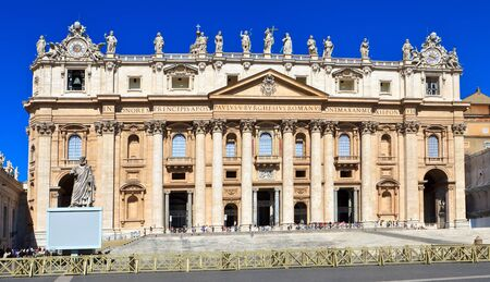 basilica of saint peter: Saint Peter cathedral  Vatican  Rome  Europe  Stock Photo