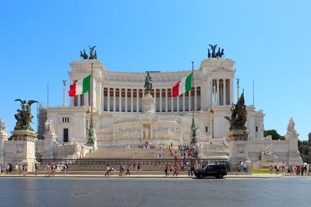 bernini: Monument  Vittorio Emanuele II on the the Piazza Venezia in Rome, Italy