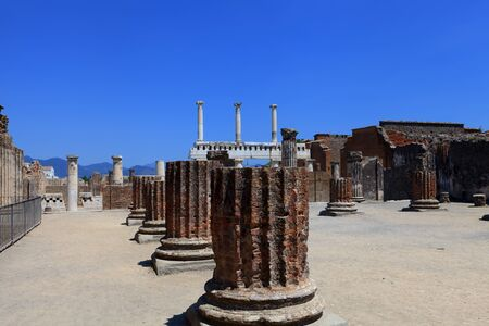 Ruins of ancient city Pompeii   Italy  Mediterranean Europe   photo