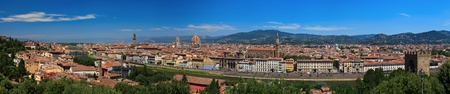 Panoramic view of historical center of Florence. Italy. Europe. photo