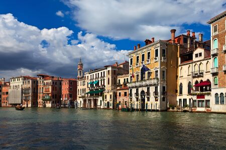 Beautiful buildings on main canal of Venice. Italy. Europe. photo