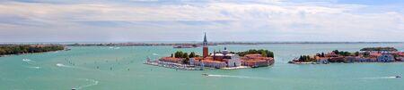 Panoramic aerial view of San Giorgio island. Venice. Italy. photo