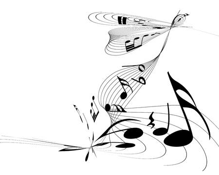 clave de fa: Notas musicales de fondo vector para el uso personal de dise�o